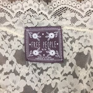 Free People Tops - Free People cream lace long sleeve top